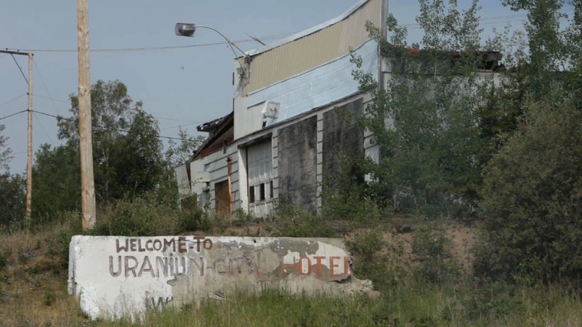 The abandoned town of Uranium City, Saskatchewan.