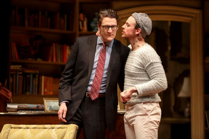 """The play, which also stars Christopher Mears (right, with Gabriel Ebert),""""puts the last 50, 60, 70 years of LGBTQ"""