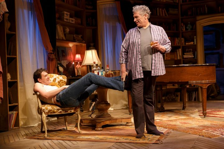 Ebert (left) and Fierstein play a pair of intergenerational lovers whose one-night tryst evolves into a deeper and more compl