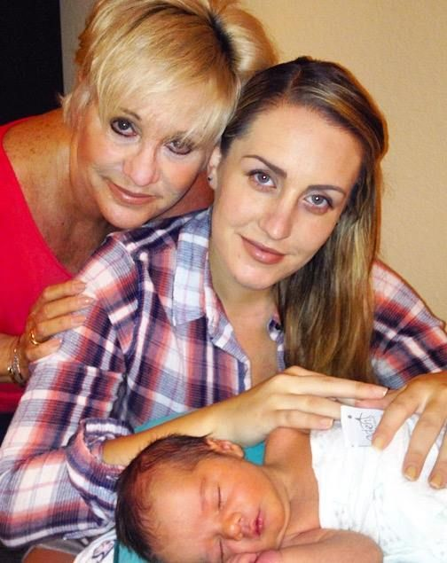 Luft with Daughter, Vanessa, and Baby Logan