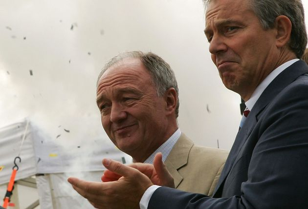 Tony Blair with Ken Livingstone in