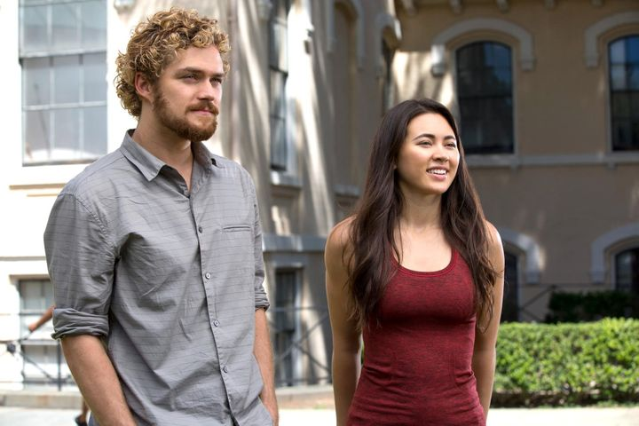 Colleen Wing (played by Jessica Henwick) becomes intimately involved with Iron Fist (played by Finn Jones).