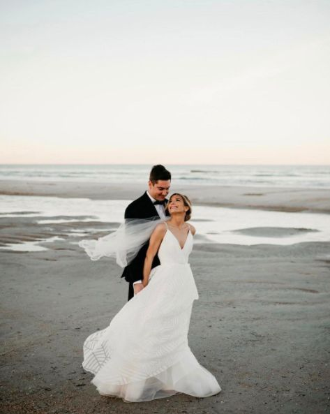 """""""Still in the clouds from Nick andTeal's wedding."""" --<i>Jared & Lauren Bowser</i>"""