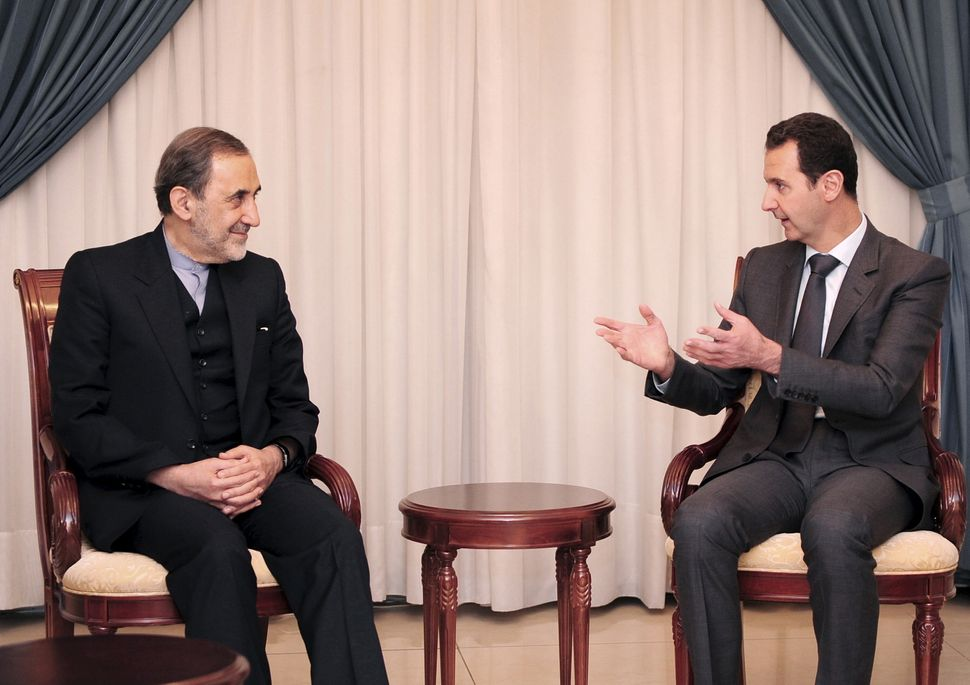 Iran's hard-liners are inclined to keep Syrian President Bashar Assad in power.