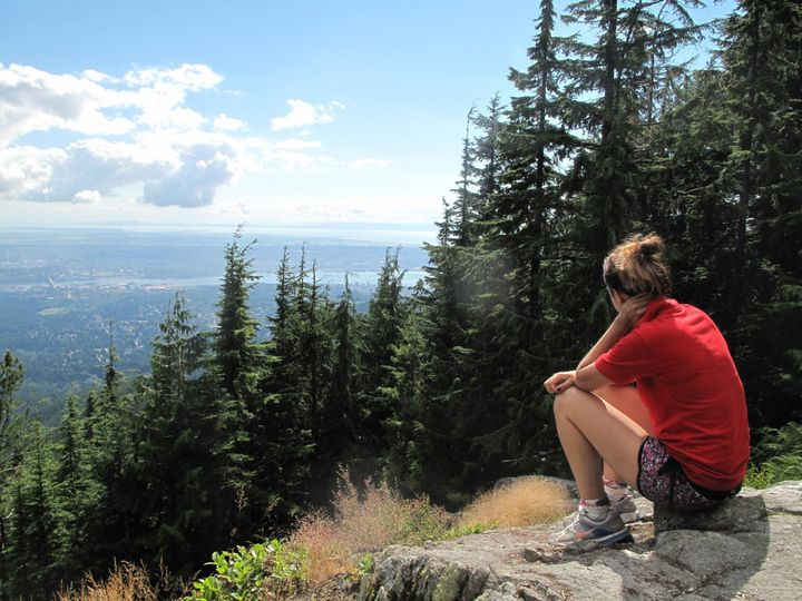 <p>BC, Canada. View from the top of a mountain. </p>