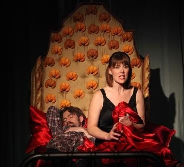 Patrick Alparone and Lauren English in a scene from <strong><em>The Baltimore Waltz</em></strong>