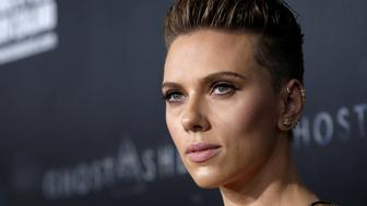 Actor Scarlett Johansson poses as she arrives for the premiere of the film 'Ghost In The Shell' in New York City, New York, U.S., March 29, 2017.  REUTERS/Mike Segar