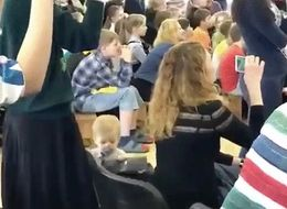 Toddler Pulls Off Sneaky Stunt While Adults Are All Distracted During School Play