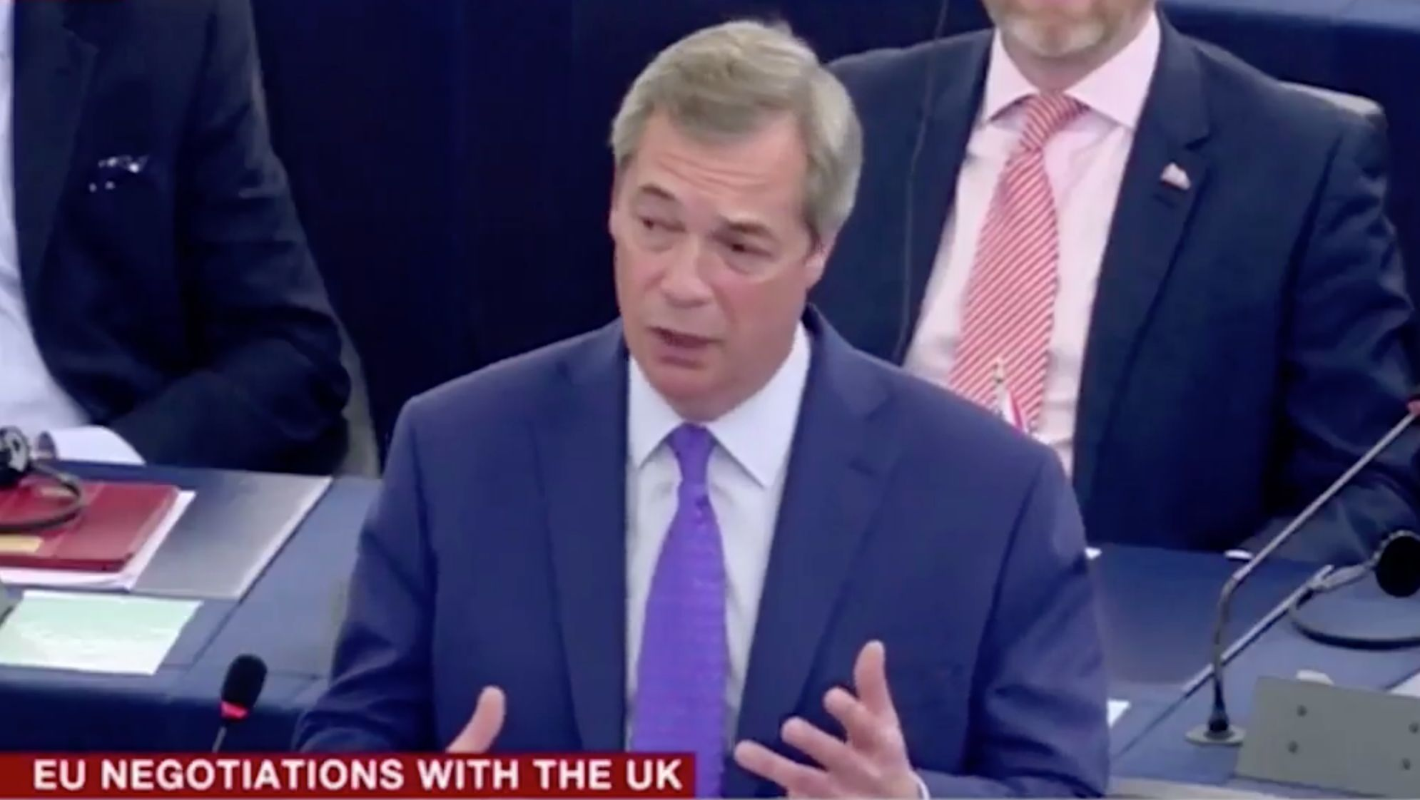 Nigel Farage accused the EU of wanting to 'destroy nation state democracy' by including Gibraltar in...