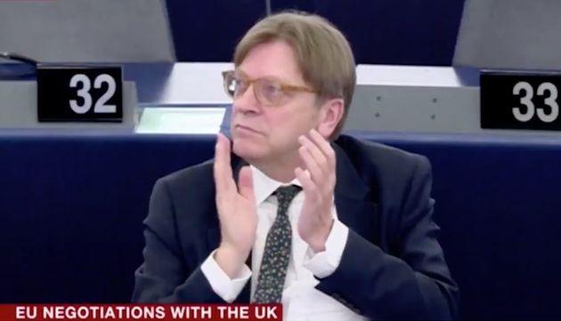 Lead Brexit negotiator Guy Verhofstadt applauded the intervention