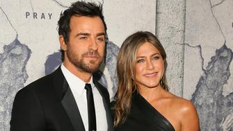 LOS ANGELES, CA - APRIL 04: Justin Theroux and Jennifer Aniston attend the premiere of HBO's 'The Leftovers' Season 3 at Avalon Hollywood on April 4, 2017 in Los Angeles, California.  (Photo by JB Lacroix/WireImage)