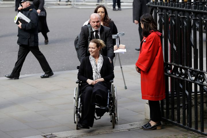 Cochran arrives at the Service of Hope at Westminster Abbey