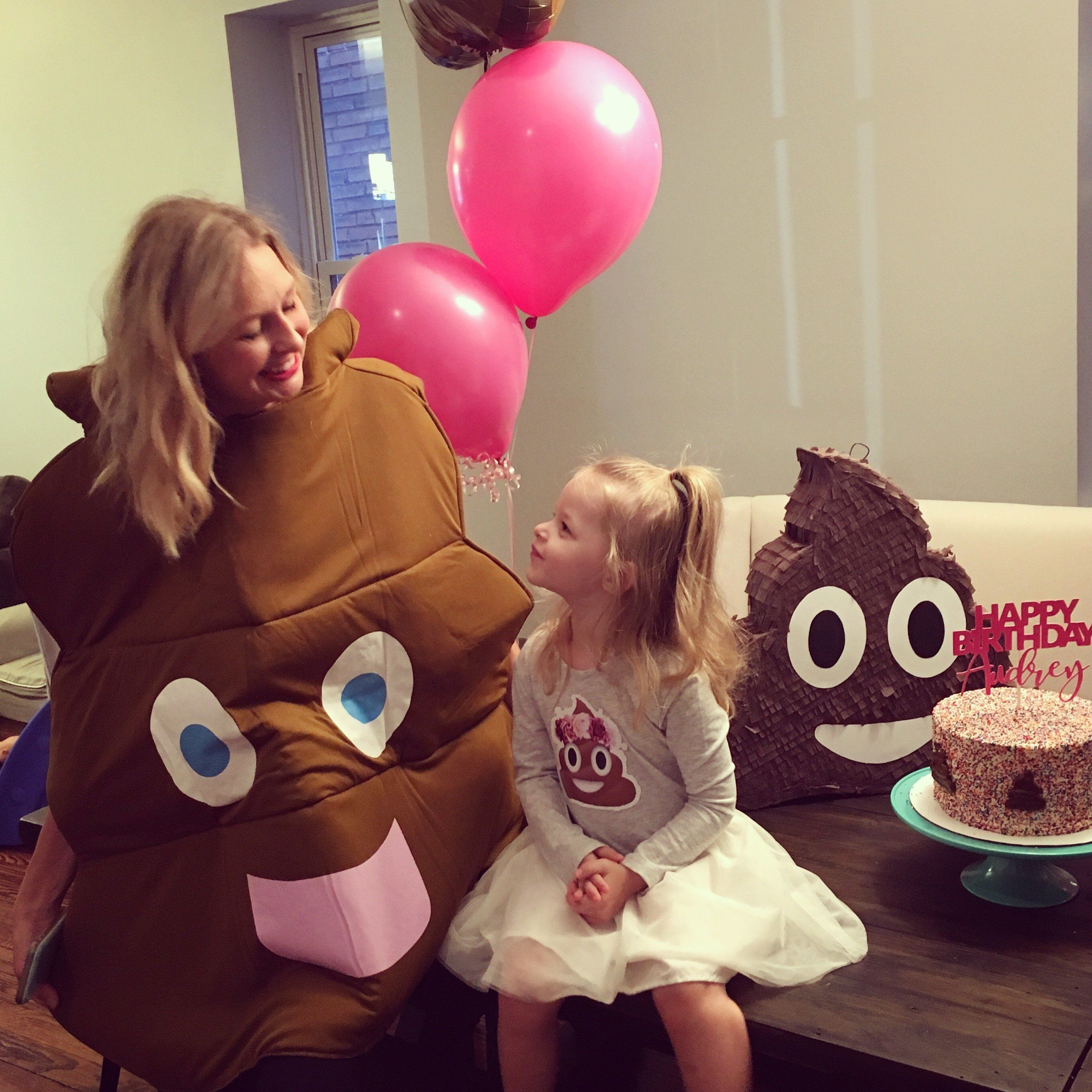 American Balloon Company Emoji Poop Balloon Bouquet with Ribbon