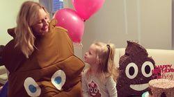 Esta niña quería un cumpleaños con temática de caca y así