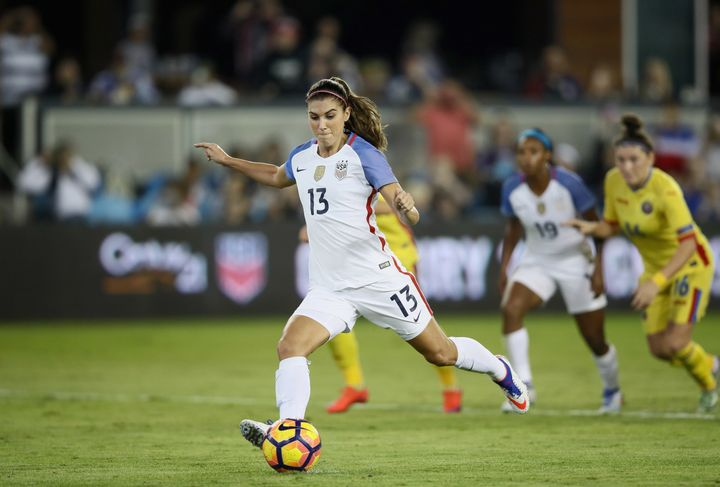 USWNT forward Alex Morgan is one ofthe five players who filed a complaint over pay discrimination against U.S. Soccer l