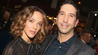 NEW YORK, NY - OCTOBER 20:  Zoe Buckman and husband David Schwimmer pose at the opening night of 'The Front Page' on Broadway at The Broadhurst Theatre on October 20, 2016 in New York City.  (Photo by Bruce Glikas/Bruce Glikas/FilmMagic)