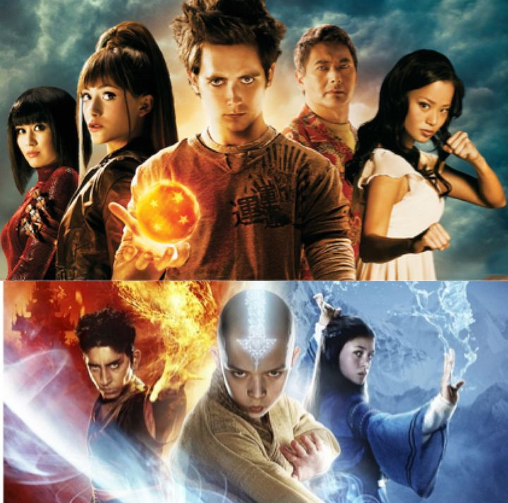 Top: <em>Dragonball Evolution</em>  (2009); Bottom: <em>The Last Airbender</em> (2010).