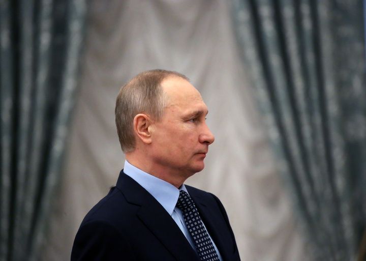 Putin at the Kremlin on March 24.