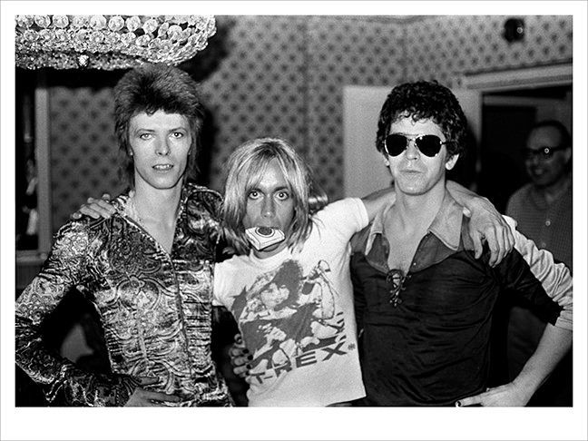 David Bowie, Iggy Pop and Lou Reed, 1972.