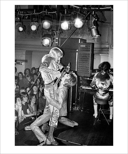 Mick Ronson and David Bowie,