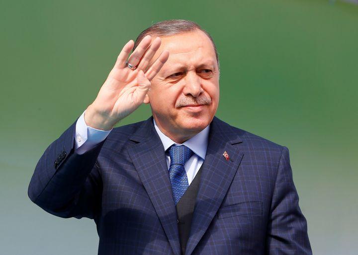 Erdogan in Bursa, Turkey, on April 5.