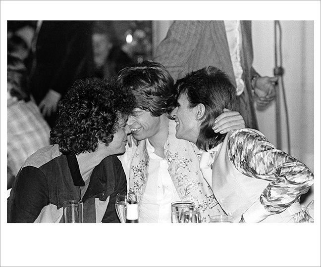 Lou Reed, Mick Jagger and Davie Bowie, 1973.
