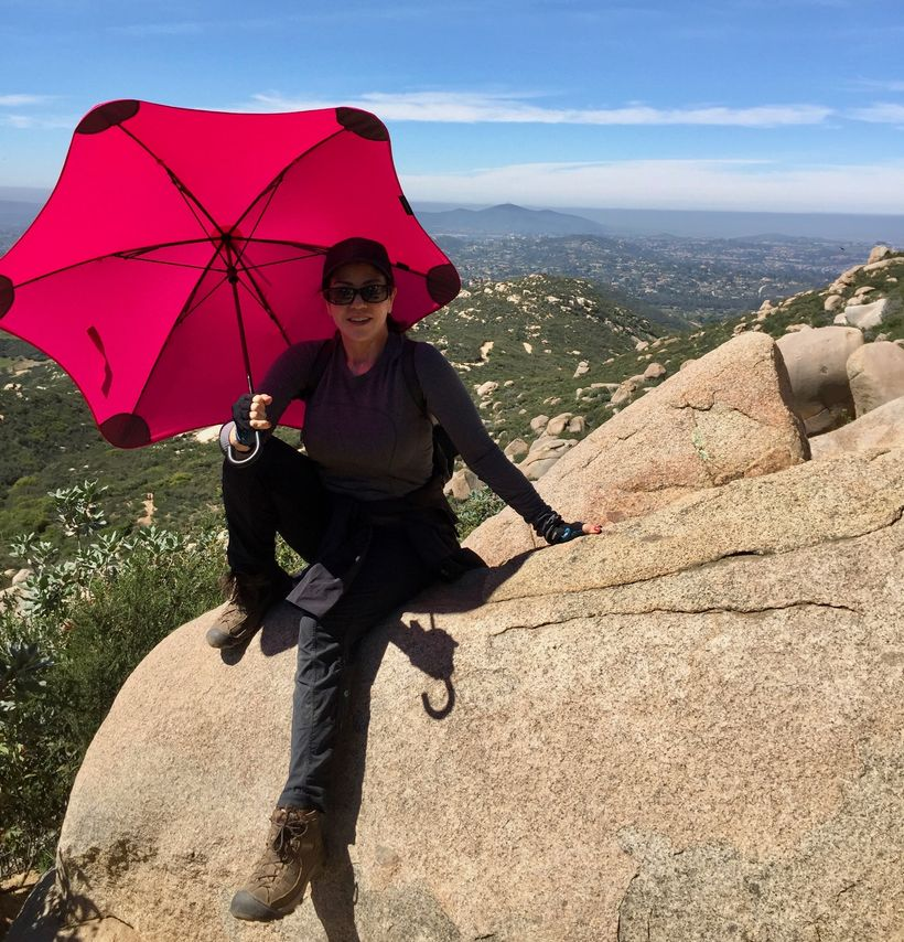 Hiking Potato Chip Rock with the Blunt Umbrella