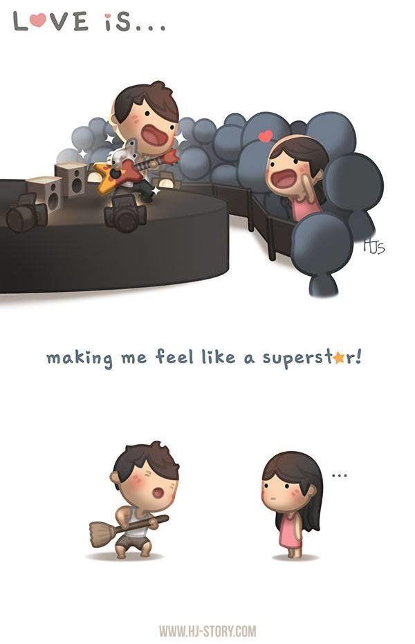 """Love is making me feel like a superstar."""