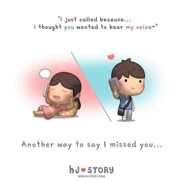 Los tiernos dibujos que muestran el amor en lo más
