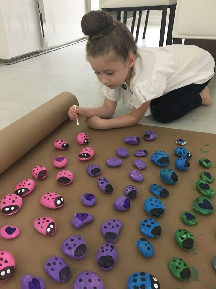 After hearing about Jewish cemeteries being vandalized, 6-year-old Ayel Morgenstern began painting rocks to send to families