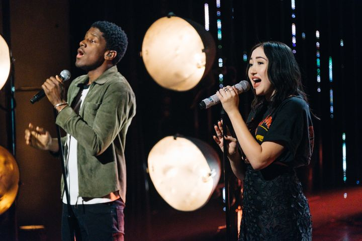 """Noah Cyrus and Labrinth on """"The Late Late Show with James Corden."""""""