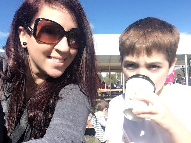 Kimberly Smith with her 9-year-old son Camdyn