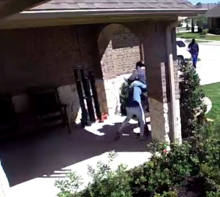 A screenshot of the video that captured the alleged abduction.