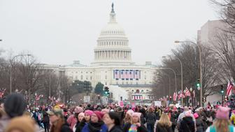 WASHINGTON, DC - JANUARY 21:  A view of the US Capitol during the Women's March on Washington on January 21, 2017 in Washington, DC.  (Photo by Noam Galai/WireImage)