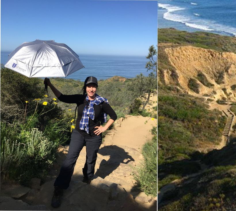 Hiking Potato Chip Rock with the UV-Blocker Umbrella
