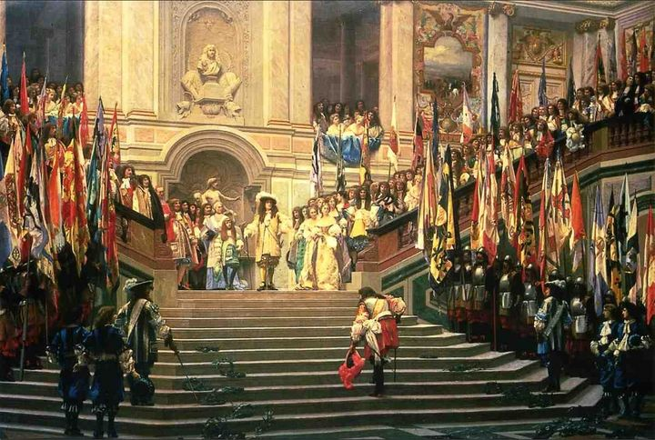 French king and his posse. They probably smelled bad, had terrible STDs, were mostly dead by 50. Totally not fun.