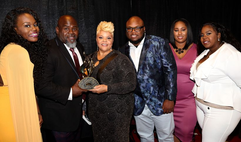 (L-R)LaPortia, David, Sr., Tamela, David, Jr., Chantal and Tia Mann.