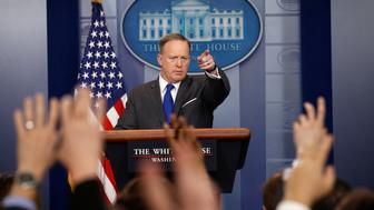 White House spokesman Sean Spicer holds a briefing at the White House  in Washington, U.S., March 20, 2017. REUTERS/Kevin Lamarque