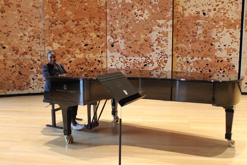 A rehearsal room at The Philharmonie de <em>Paris. </em>