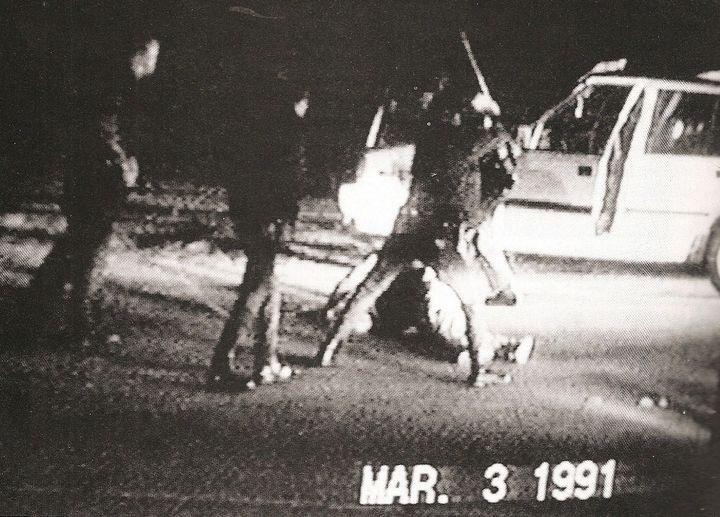 <em>Rodney King beating by Los Angeles Police Department</em>