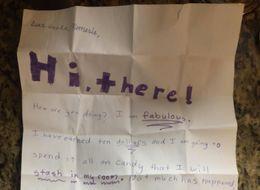 Little Girl Left Uncle Disturbing Gift In Envelope When She Sent Him A Letter