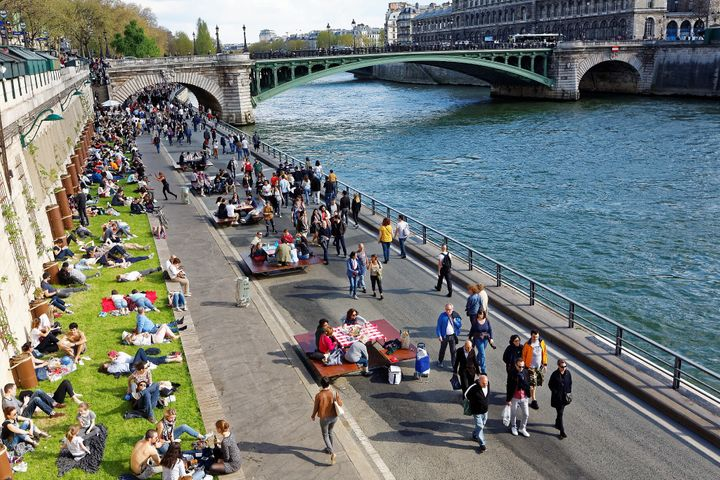 By removing cars from the right bank of the River Seine, the city of Paris has created a unique new space for pedestrians and