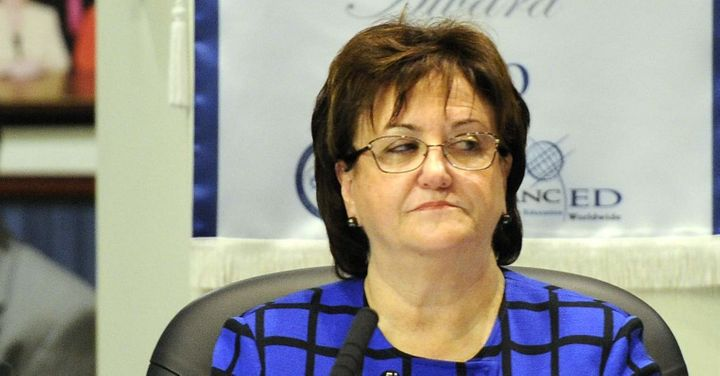 MaryEllen Elia before being fired in Florida.