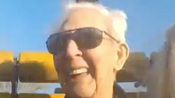 Kickass 105-Year-Old Enjoys The Roller Coaster Ride Of His