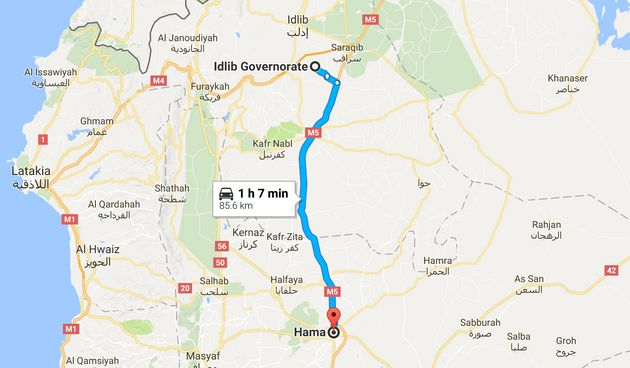 Hama is over an hours drive from