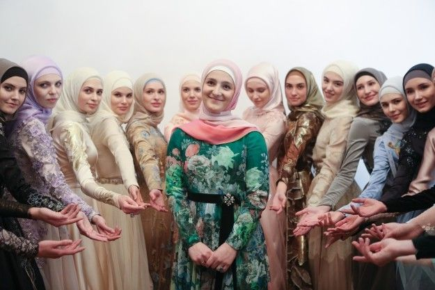 Aishat with the models