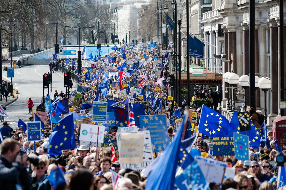 Thousands of pro-EU supporters take part in Unite For Europe on March 25, where The New European handed...
