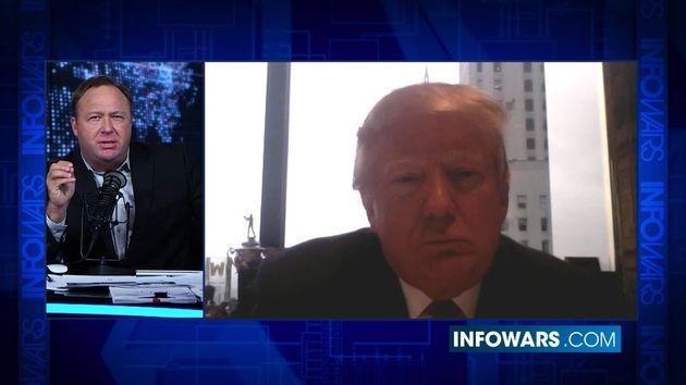 Trump appeared on Infowars in Decemberand said: