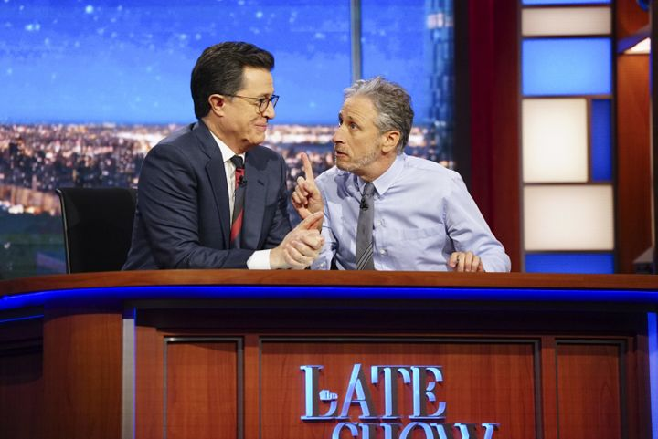 """The Late Show with Stephen Colbert"" would be one late-night program affected by a writers' strike."