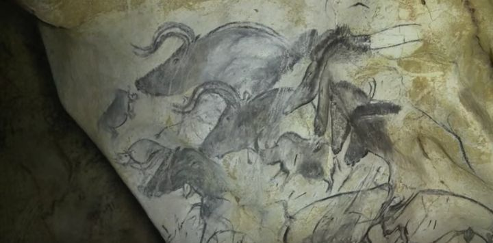 The Chauvet-Pont-d'Arc Cave in southern France contains some of the most well-preserved figurative cave paintings in the worl